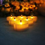 Mini vela Flameless plástica da luz do chá do diodo emissor de luz