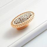 Maniglia di portello di cristallo di ceramica della cassa del cassetto del diamante dorato H102
