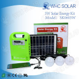 Panel Solar Sk0605W acampa Charge DC Kit Solar con bombillas de 4 LED
