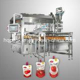 柔らかい口の包装のためのトマトソースのケチャップの満ち、キャッピング機械