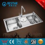 Beste Preis-Doppelt-Filterglocke-materielle Küche-Stahlwanne (BS-7019F)