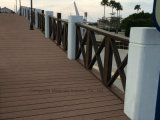 Decking antidérapant extérieur gris du composé 88 en plastique en bambou solides