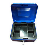 Caixa de caixa de metal portátil de venda quente com bandeja de plástico removível
