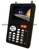 """satélite de 3.5 """" Digitas com o teste da câmera do CCTV da sustentação do monitor do LCD"""