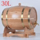 Tambor antigo do armazenamento do vinho da madeira de carvalho 30L