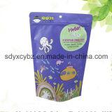 El papel de aluminio plástico se levanta la bolsa con la cremallera para el alimento/el té
