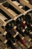 La botella del pino 15 Listo-a-Ensambla el estante del vino de la visualización del almacenaje de madera de metal