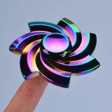 Fileur coloré de doigt de main d'arc-en-ciel de roulement du fileur R188 de personne remuante en métal