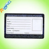 Scheda di plastica rivestita in bianco di vendita calda del PVC di identificazione delle 2017 schede di insieme dei membri