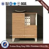 Meubles de bureau modernes de mélamine de portes de bibliothèque en verre en aluminium de bureau (HX-6M282)