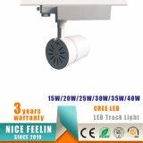 De witte/Zwarte LEIDENE van de MAÏSKOLF van de Huisvesting van het Aluminium 25W Lamp van het Spoor