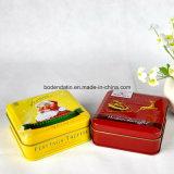 Kundenspezifischer Metallnahrungsmittelgrad-kleiner quadratischer Weihnachtssüßigkeit-Zinn-Kasten