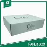 Белая коробка с черной оптовой продажей печатание логоса