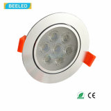 alta calidad blanca fresca LED Downlight de Dimmable de la luz del punto 7W