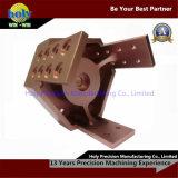 Главный алюминий CNC золота Rose эпицентра деятельности подвергая части механической обработке подвергли механической обработке CNC, котор