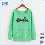 フードの女性のスエットシャツなしで印刷を群がらせる100%Cotton緑