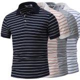 Kundenspezifisches Marken-Großverkauf-Streifen-Polo-Hemd für Männer