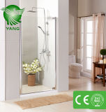 Cerco de vidro ereto livre do chuveiro, quarto de chuveiro simples