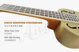 Marca de fábrica de Aiersi 24 Ukulele de cobre amarillo del resonador de la diapositiva de los azules de la carrocería de Bell del concierto de la pulgada