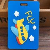 Etiqueta de bagagem macia de silicone bonito dos desenhos animados