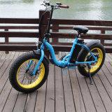 Vélo électrique plié de neige pour Madame