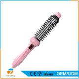2 en 1 enderezadora del pelo de los estilos e hierro que se encrespa con el cepillo de pelo eléctrico giratorio del peine que se endereza