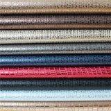 La Chine a exporté le cuir synthétique de haut de chaussure d'unité centrale de qualité