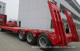 Semitrailer do veículo do portador da máquina escavadora do Gooseneck de 3 eixos