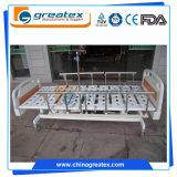 3 camas de hospital eléctricas de las funciones con las barandillas de la aleación de aluminio 6-Rank con el motor de L&K (GT-BE1004)