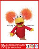 Jouet mignon de marionnette de main de personnage de dessin animé de peluche pour l'histoire