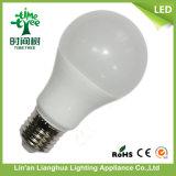 Plastic+Aluminum 5W E27 유백색 덮개 LED 전구