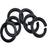 Rondelle à ressort noire de rondelle de freinage d'acier du carbone d'oxyde