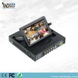 4 채널 7inch CCTV LCD DVR 결합 H. 264 실시간 지원 Cvbs 산출