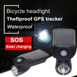 Fahrrad-Scheinwerfer Salar, der den GPS Gleichlauf auflädt