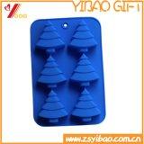 Moulage fait sur commande de gâteau de silicones de forme d'arbre de Noël de logo de modèle neuf
