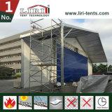 Extensão desobstruída branca de M da barraca 30 x 30 dos hangares dos aviões do PVC para o exército militar