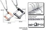GELIEBT-Schmucksache-Set der Form-Paar-Halsketten-316L Stahl