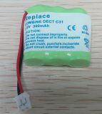 Batterie de téléphone sans fil pour le mistral 220 de Sagem DECT C31 C32
