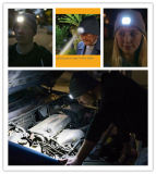 La pêche de hausse en gros de nuit de chapeau de DEL brillante chauffent la nuit le chapeau de tricotage de laines de maintenance