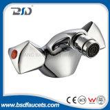 Miscelatore d'ottone del rubinetto di Bidet della leva del doppio del bicromato di potassio della stanza da bagno tradizionale