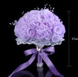 Da pérola disponível do laço de Rosa de Organza de quatro cores ramalhete nupcial de cristal
