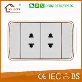 مفتاح كهربائيّة أبيض [سري] [3غنغ] جدار مفتاح