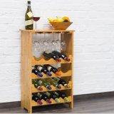 Wein-Zahnstange für 16 Flaschen und Halter den 12 Glas-/Flasche mit 3 Teilen für Wein-Gläser/Regale für das Stapeln der Flaschen,