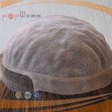 Toupee pieno 100% del cappello a cilindro delle donne dei capelli del Virgin di Remy del grado della parte superiore di stile del bordo dell'unità di elaborazione di Handtied di colore del Brown mono (PPG-l-0788)