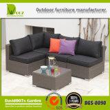 Muebles del jardín de la rota y del aluminio del PE, conjunto al aire libre del sofá de la rota