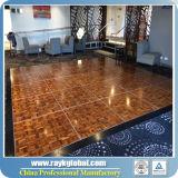 Premier parquet de vente Dance Floor en bois pour le plancher de PVC d'événement de mariage d'usager pour la danse