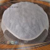 Toupetje van Topper van de Vrouwen van het Haar van Remy van de Rang van de Stijl van de Rand van Handtied Pu van de Kleur van 100% het Bruine Volledige Mono Hoogste Maagdelijke (pPG-l-0788)