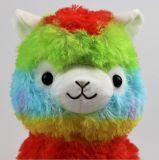 juguetes de la felpa del Vicugna del arco iris de los 35cm