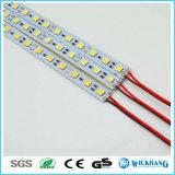 Indicatore luminoso di striscia duro rigido della barra chiara del LED 12V luminoso eccellente 5050 72 LED/M