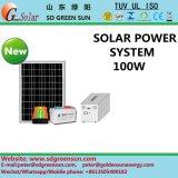 sistema eléctrico solar solo del soporte 100W, fuente de alimentación con salida de la CA